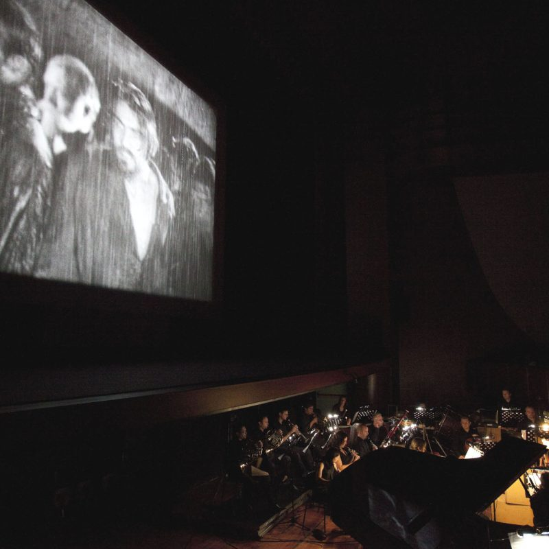 Le Giornate del Cinema Muto 2011, serata inaugurale con NOVYI VAVILON (Nuova Babilonia, URSS 1929) di Grigorij Kozintzev e Leonid Trauberg. Fotografia di Paolo Jacob.